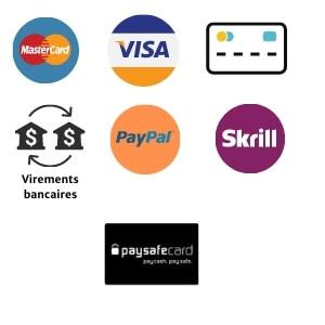 Moyens de paiement acceptés sur Unibet